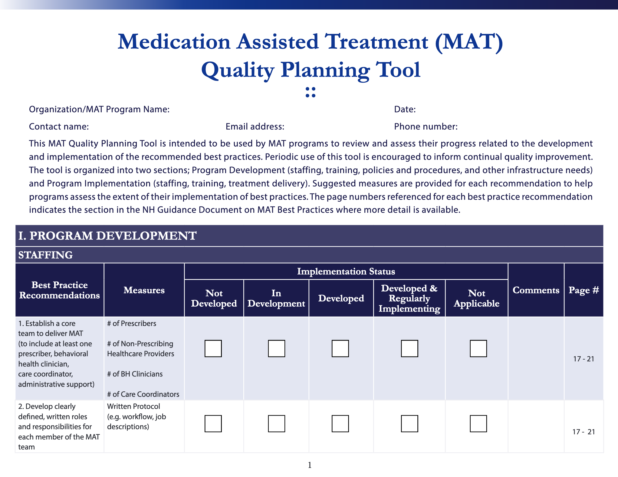 Download MAT Quality Planning Tool in PDF format.