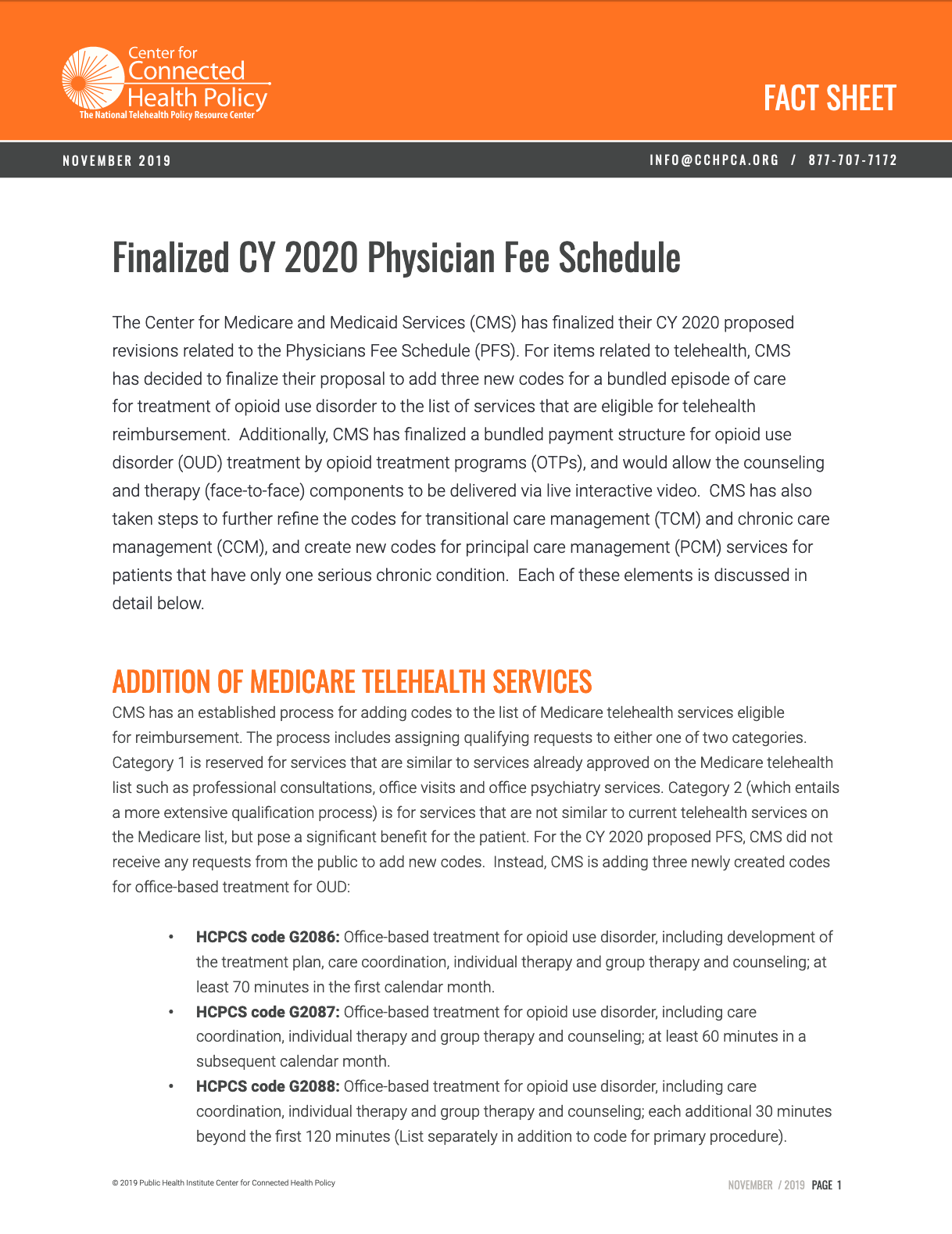 Download Physician Fee Schedule 2020 in PDF format.