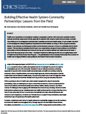 Download Building Effective Health System-Community Partnerships: Lessons from the Field in PDF format.